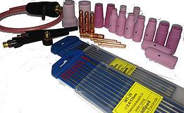 Расходные и запасные части к сварочному оборудованию типа TIG